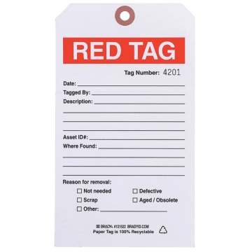 Detailed Red Tags