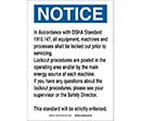 Lockout Procedure Notice