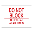 Do Not Block Keep Clear at All Times