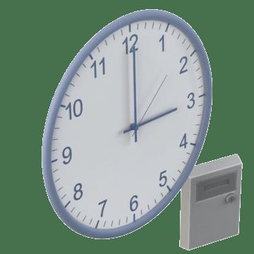 Clocks Synchronized by Controller