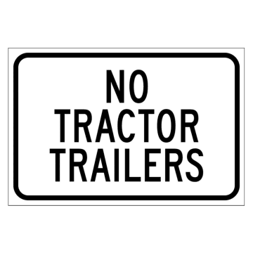 No Tractor Trailers