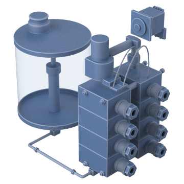 Air-Powered Pumps with Reservoir