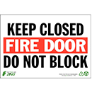 Fire Door Keep Closed Do Not Block