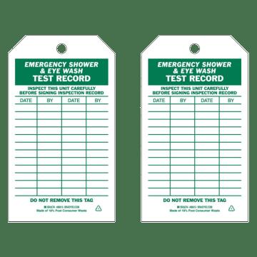 Emergency Shower & Eye Wash Test Record
