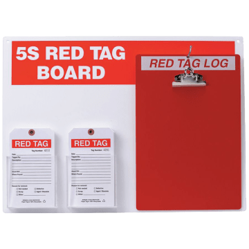Red Tag Station with Clipboard