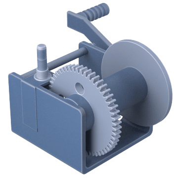 Precise-Control Worm-Gear for Lifting & Pulling