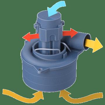 Tangential Bypass Motor