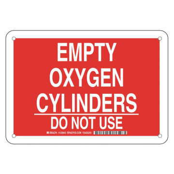 Empty Oxygen Cylinders Do Not Use