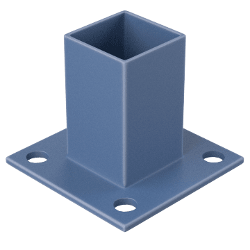 Stacking Guardrail Mounting Bases
