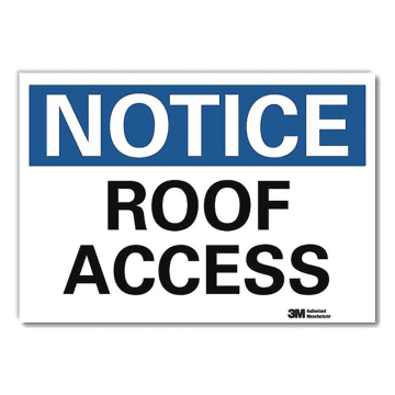 Notice Roof Access