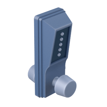 Mechanical Push Button with Knob
