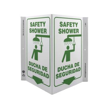 Bilingual Safety Shower