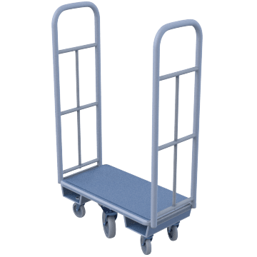 Tall-Handle Narrow-Platform for Confined-Spaces
