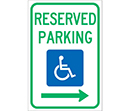 Reserved Parking (Right Arrow)