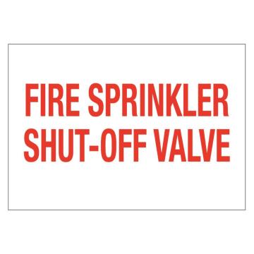 Fire Sprinkler Shut-Off Valve