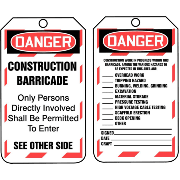 Danger Construction Barricade